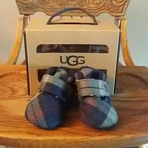 Plaid ugg slippers